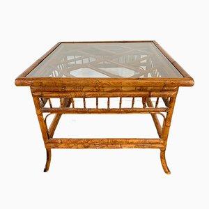 Tavolino vintage in bambù tigrato