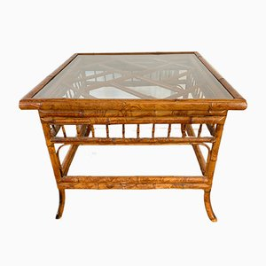 Vintage Tiger Bamboo End Table