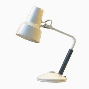 Lámpara de escritorio o pared Mid-Century en blanco de Jac Jacobsen para Luxo, años 60