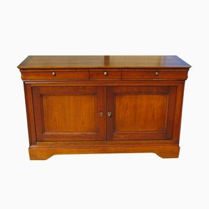 Louis Philippe Style Solid Wood Buffet, 1980s