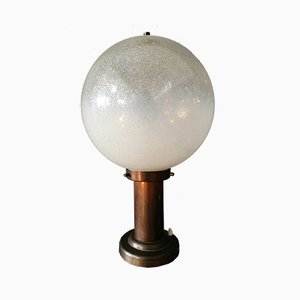 Italian Brutalist Table Lamp by Napoleone Martinuzzi, 1960s