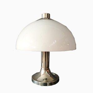 Italienische Space Age Tischlampe mit verchromtem Fuß, 1960er