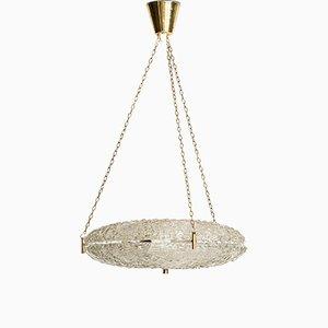 Lámpara de techo de Carl Fagerlund para Orrefors, años 50