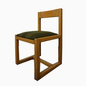 Vintage Esszimmerstühle aus Holz & Stoff, 1980er, 6er Set