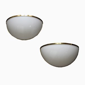 Spanish Brass & Plexiglas Sconces from Metalarte, 1960s, Set of 2