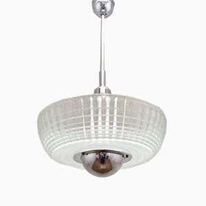 Large Ceiling Lamp from Holophane, 1950s
