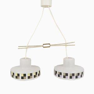 Double Lampe Suspendue de Doria, Allemagne, 1960s