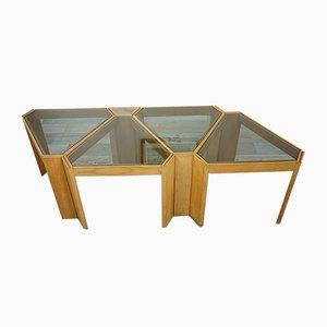 Tables d'Appoint Modulable de Porada Arredi, Italie, 1970s
