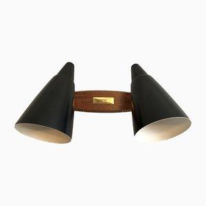 Multidirektionale italienische Mid-Century Wandlampe