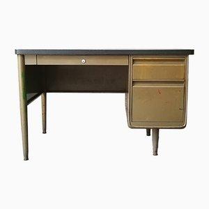 Mid-Century Schreibtisch in hellem Olivgrün von ACIOR, 1950er