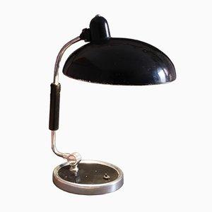 Lámpara de escritorio modelo 6632 negra de Christian Dell para Kaiser Idell, años 30