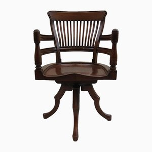 Antique 19th Century Walnut Swivel Office Chair by E. W. Godwin
