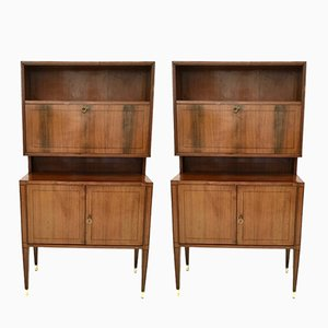 Mid-Century Rosewood & Mahogany Cupboards, 1950s, Set of 2