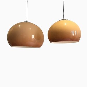 Italian Pendant Lamps from Guzzini, 1970s, Set of 2