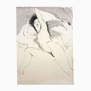 Gravure à l'Eau-Forte Femme par Jean Gabriel Domergue, 1924