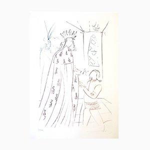 Gravure à l'Eau-Forte The Knighting of Lancelot par Salvador Dali, 1975