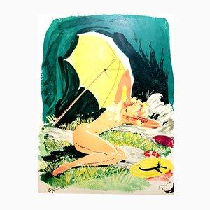 Litografia The Little Star di Jean-Gabriel Domergue, 1956