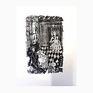 Litografia Pushkin's Queen of Spades di Antoni Clavé, 1946