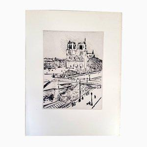 Gravure à l'Eau-Forte Notre Dame par Albert Marquet, 1927