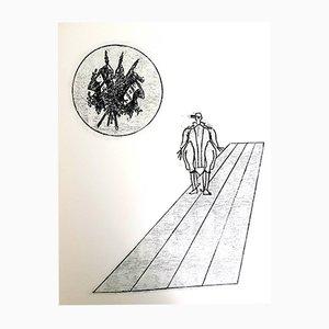 Litografia The Soldier di Max Ernst, 1972