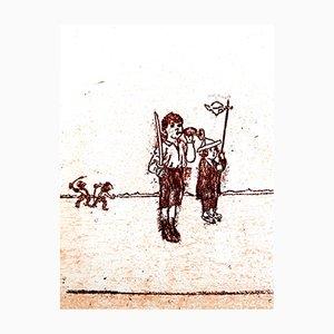 The Soldier Lithografie von Max Ernst, 1972