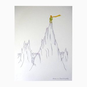 Little Prince On Summits Lithograph by Antoine de Saint Exupery, 1940s
