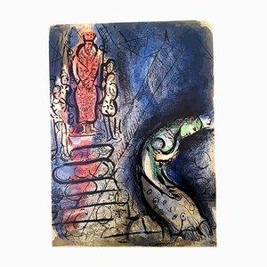 Ahasuerus Sends Vasthi Away Lithografie von Marc Chagall, 1960