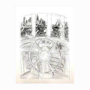 Gravure à l'Eau-Forte On the Boat! par Raoul Dufy, 1940s