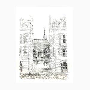 Haussmann Architecture Radierung von Raoul Dufy, 1940