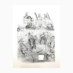 Gravure à l'Eau-Forte Orchestra par Raoul Dufy, 1940