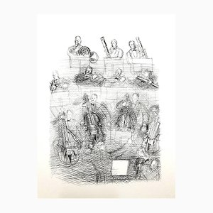 Orchestra Radierung von Raoul Dufy, 1940