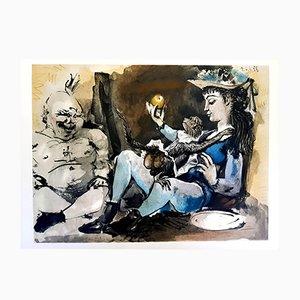 Litografía The Human Comedy de Pablo Picasso, 1954