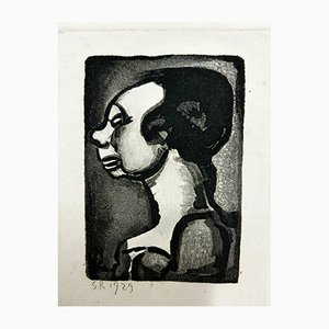 Ubu the King Engraving by Georges Rouault, 1955