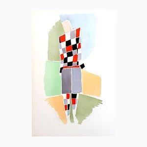 Peinture au Pochoir 27 Living par Sonia Delaunay, 1969