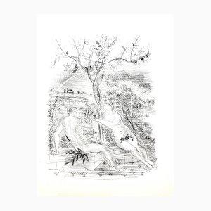 Gravure à l'Eau Forte Adam and Eve in Modernity par Raoul Dufy, 1940