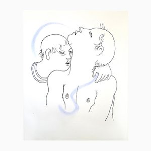 Couple Lithograph by Jean Cocteau, 1930