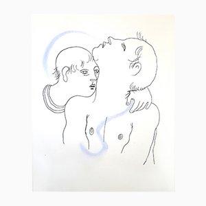 Litografía Couple de Jean Cocteau, 1930