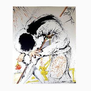 Litografía Don Quichotte de Salvador Dalí, 1957