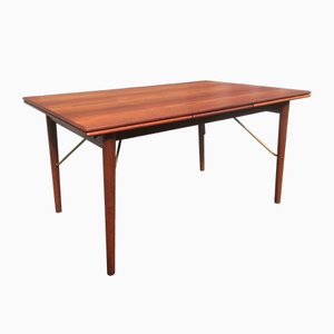 Extendable Teak Dining Table by Peter Hvidt for Soborg Mobler, 1960s