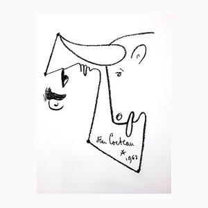 Animalism Lithografie von Jean Cocteau, 1965