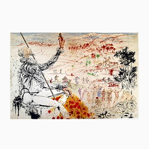 Originale Don Quichotte Lithografie von Salvador Dali, 1957