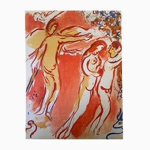 Paradise Lithografie von Marc Chagall, 1960
