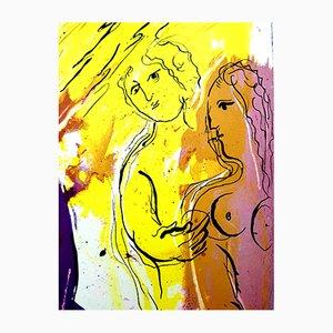 Lithographie Originale La Bible par Marc Chagall, 1956