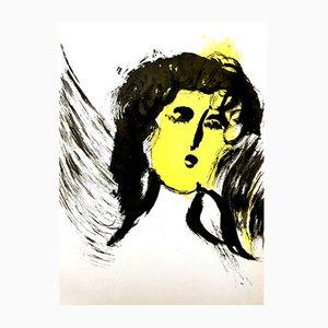 Lithographie Femme Ange par Marc Chagall, 1956