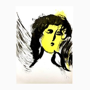 Litografía Woman Angel de Marc Chagall, 1956