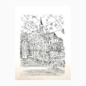 Gravure à l'Eau-Forte Originale Église par Raoul Dufy, 1940