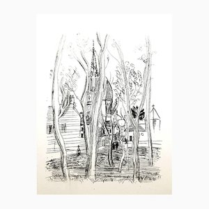 Acquaforte Village di Raoul Dufy, 1940