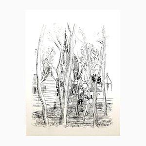 Gravure à l'Eau-Forte Originale Village par Raoul Dufy, 1940