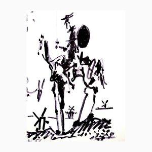 Litografía Don Quixote de Pablo Picasso, 1955
