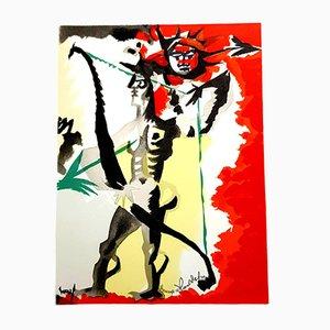 Litografia Homage to Dufy di Jean Lurçat, 1965